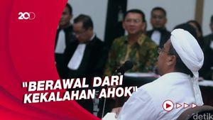 Singgung Ahok di Pledoi, HRS: Kasus Ini untuk Penuhi Dendam Oligarki!