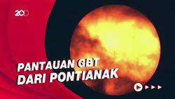 Potret Gerhana Bulan Total dari Pontianak