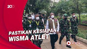 Tinjauan Perdana Ganip Warsito ke Wisma Atlet Sebagai Kepala BNPB