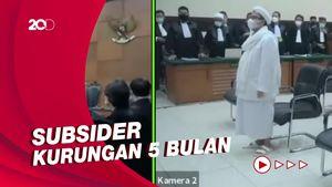 Habib Rizieq Divonis Denda Rp 20 Juta Atas Kasus Kerumunan