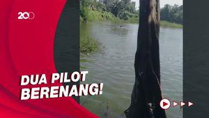 Detik-detik Pilot Selamatkan Diri Usai Heli Jatuh di Danau Buperta
