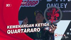 Quartararo Juara MotoGP Italia, Marc Marquez Crash