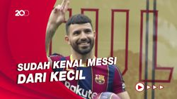 Senangnya Aguero Bisa Main Bareng Messi di Barcelona
