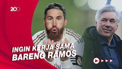 Kode Keras Ancelotti Ingin Pertahankan Sergio Ramos