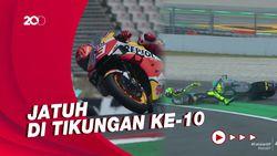 Marquez-Rossi Kompak Jadi Korban Tikungan Ke-10 MotoGP Catalunya