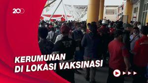 Heboh Kerumunan Usai Jokowi Cek Vaksinasi di Tj Priok, Ini Kata Polisi