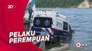 Pelarian Pencuri Ambulans Terhenti Usai 160 Km, Mobil Nyemplung Pantai