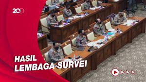 Di DPR, Kapolri Pamer Kepercayaan Publik ke Polri Capai 86,5%