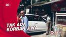 Mobil Seruduk Kios Bensin di Sukabumi Usai Adu Banteng
