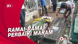 Belasan Makam di Solo yang Dirusak Kini Diperbaiki