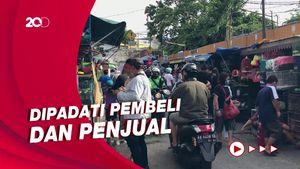 Pasar Hewan Jatinegara Masih Ramai Meski Masuk Zona Merah Covid-19