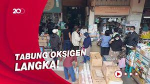 Sulitnya Mencari Tabung Oksigen di Pasar Pramuka