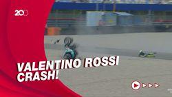 Momen Rossi Kecelakaan di MotoGP Belanda, Motornya Hancur