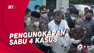BNN Provinsi Sulbar Musnahkan 5,8 Kg Sabu ke Septic Tank
