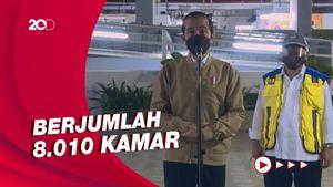 Jokowi Tinjau Kesiapan Rusun Pasar Rumput untuk Pasien Covid-19