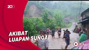 Banjir Luapan Sungai Rendam 3 Desa di Mamasa Sulbar