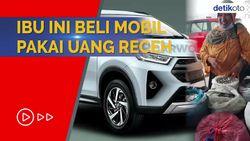 Viral! Ibu-ibu Beli Toyota Rush Pakai Uang Receh