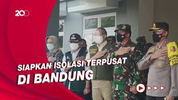 Panglima TNI Tinjau Wisma Atlet Si Jalak Harupat, Bahas Isolasi Terpusat