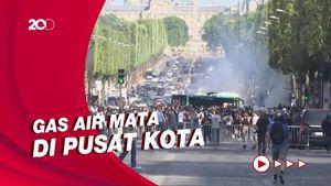 Paris Rusuh, Pedemo Tolak Aturan Terkait COVID dan Polisi Bentrok