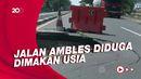 Awas! Satu Lajur Jalan Pantura Subang Amblas, Pengendara Kudu Waspada