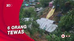 Longsor di Lokasi Pengungsian Rohingya