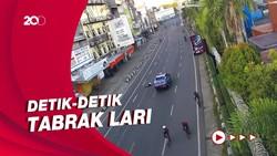 Terekam CCTV! Mobil Rescue Dinsos Tabrak Lari Pesepeda di Makassar