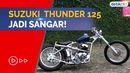 Sangar! Suzuki Thunder Bekas Harga Rp 1 Jutaan Disulap Jadi Chopper