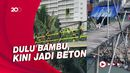 Melihat Jembatan Bambu Reyot di Kebon Jeruk yang Kini Jadi Beton