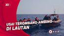 Momen Puluhan Imigran Dievakuasi di Laut Mediterania