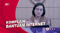 Sri Mulyani Jelaskan Penyebab Bantuan Kuota Internet Belum Cair