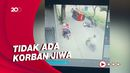 Viral! Angkot Terguling Karena Hindari Pemotor yang Jatuh di Sukabumi