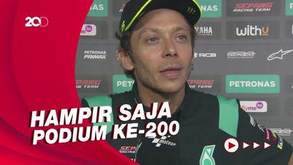 Ekspresi Terkejut Rossi Saat Tahu Tiba-tiba Ada di Jalur Podium