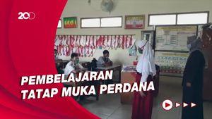 PTM Perdana di Rembang Setelah Hampir 2 Tahun Belajar Daring