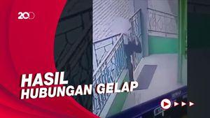 Terekam CCTV! Aksi Ibu Buang Bayi di Teras Masjid Tangerang