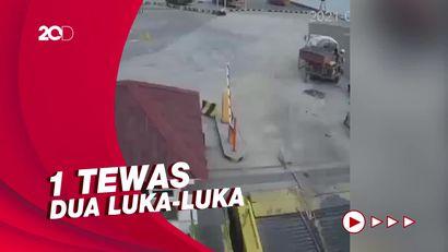 Detik-detik Jatuhnya Pekerja Pengecoran di Pelabuhan Merak