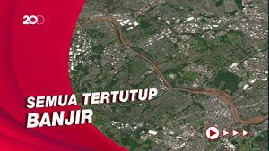 Horornya Before-After AS Diterjang Badai Ida Via Satelit