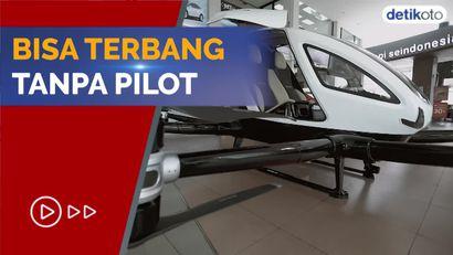 Ini Wujud Taksi Terbang yang Sudah Mendarat di Jakarta