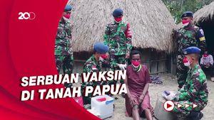 Upaya Memvaksinasi Warga di Pegunungan Papua