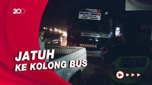 Pemotor Perempuan Tewas Terlindas Bus di Jalan Cianjur-Puncak