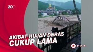 Sungai Cidurian Bogor Meluap, Jembatan Putus-Rumah Rusak