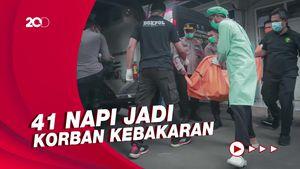 Momen Kedatangan Jenazah Korban Kebakaran Lapas Tangerang ke RS Polri