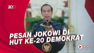 Jokowi: Demokrat Jadi Bagian Penting Perjalanan Demokrasi di Indonesia