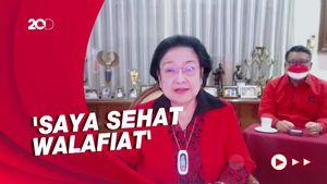 Ekspresi Megawati Jawab Isu Jatuh Sakit