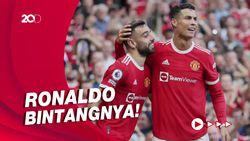 Ronaldo Dua Gol, Manchester United Libas Newcastle 4-1