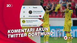 Dortmund Kalahkan Leverkusen, Haaland: Alhamdulillah