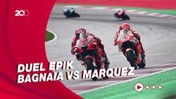 Serangan-serangan Marquez ke Bagnaia di MotoGP Aragon
