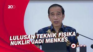 Saat Jokowi Cerita Kuliah-Karier Menkes BGS yang Menyimpang