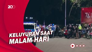 Polisi Tilang Pemotor yang Bandel Langgar Crowd Free Night