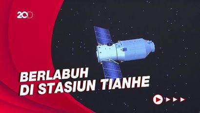 Detik-detik Roket China Tianzhou-3 Meluncur ke Angkasa