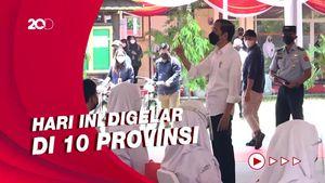 Bareng BIN, Jokowi Kebut Vaksinasi Pelajar-Santri Demi PTM